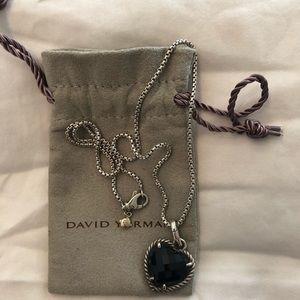 David Yurman black onyx heart pendant